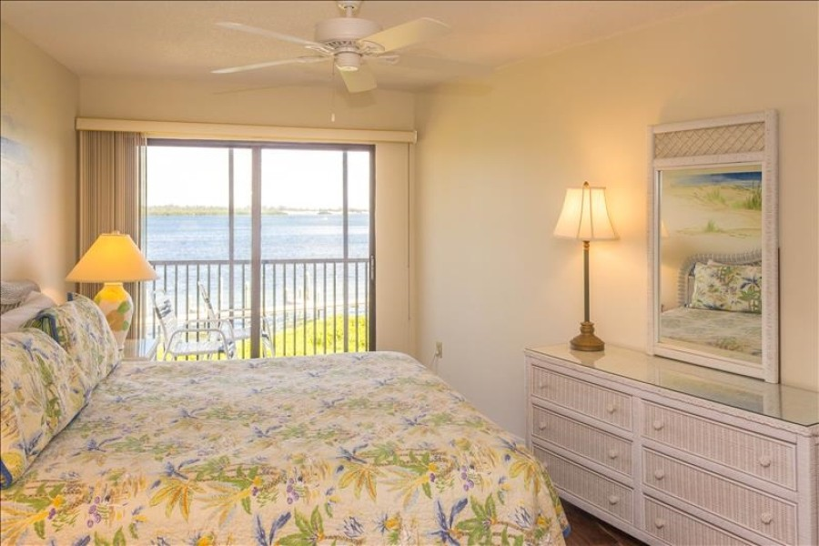 Master bedroom with bay view