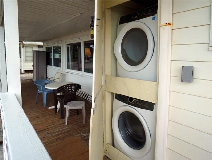 Outside laundry area