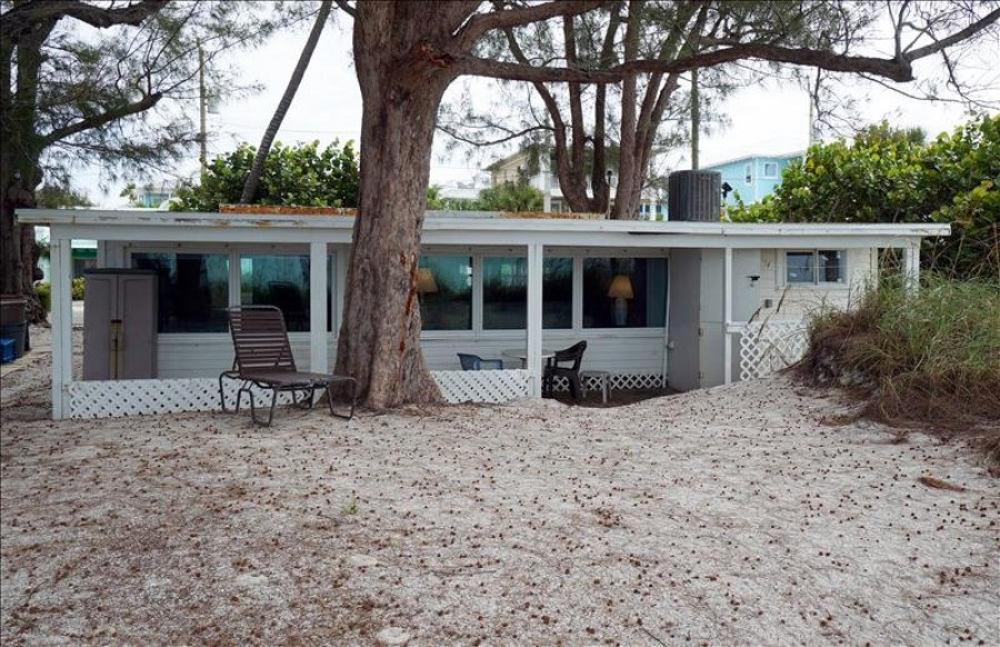 Back of beach cottage