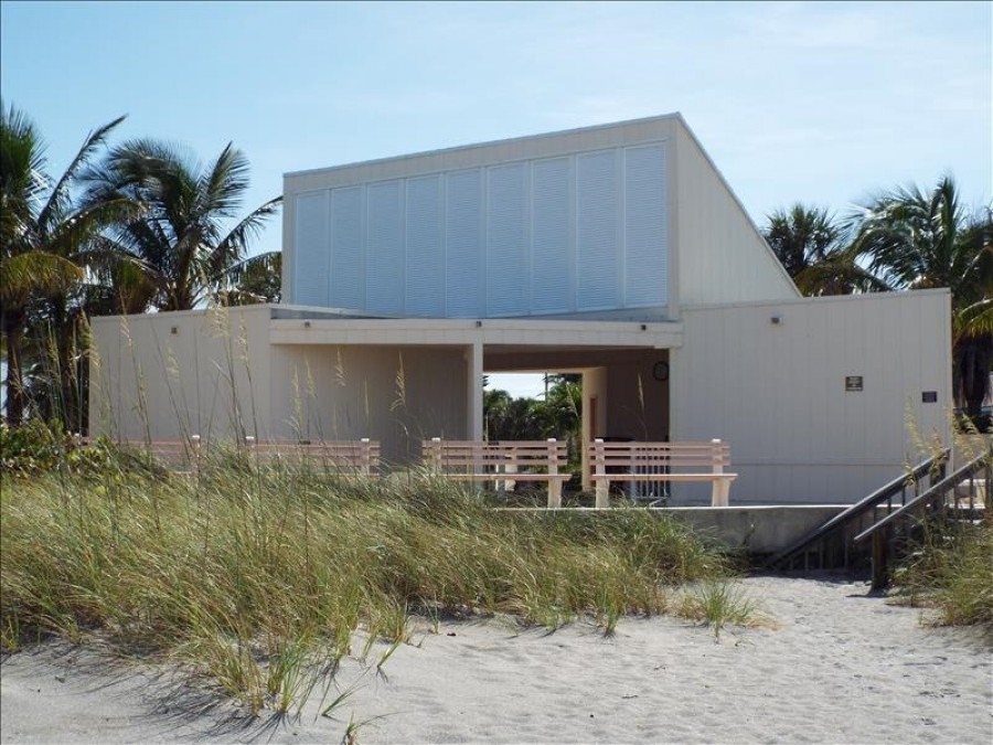 Beachside pavilion