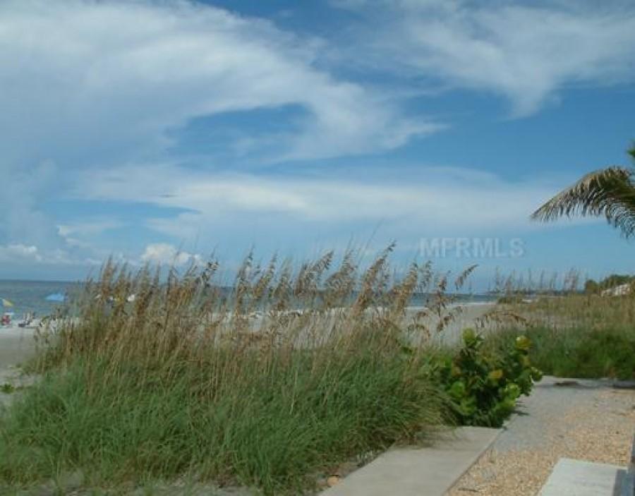 Beach pavilion and beach
