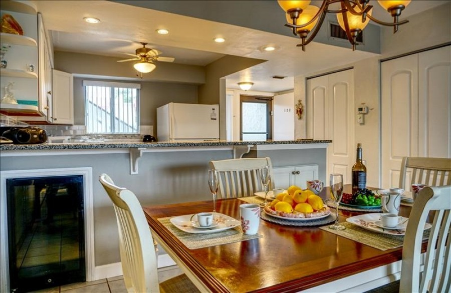 Dining Area with wine cooler