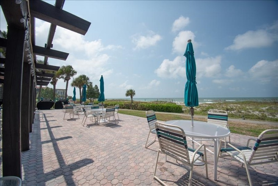 Club house and beach