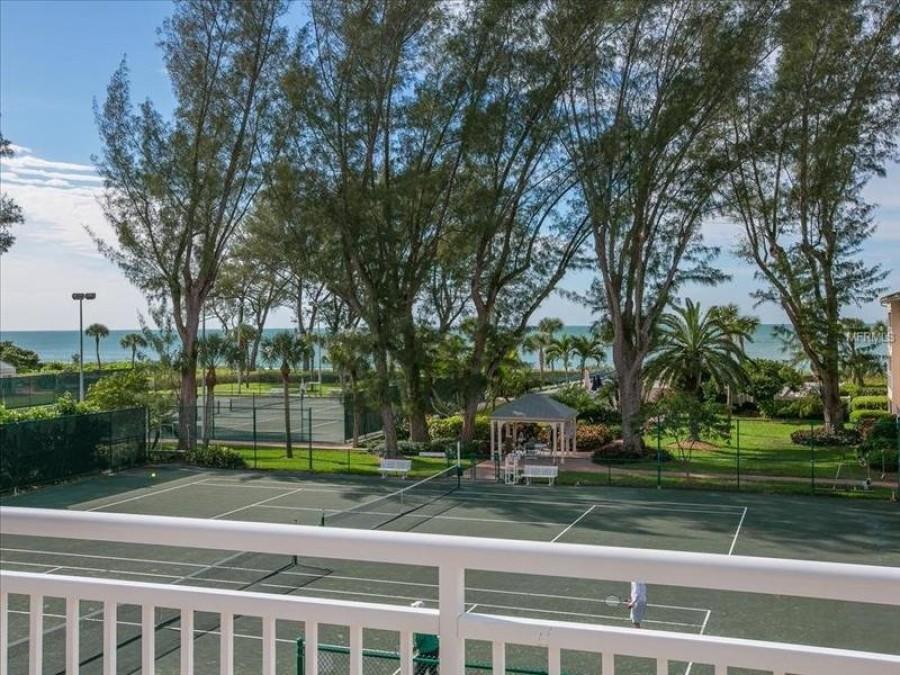 Beach and tennis court