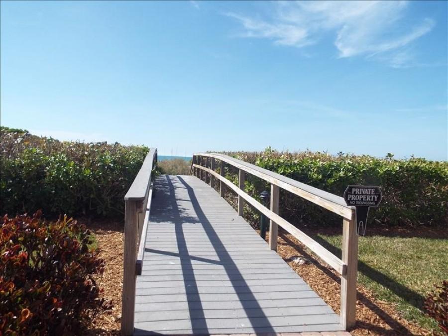 Beachside walkway