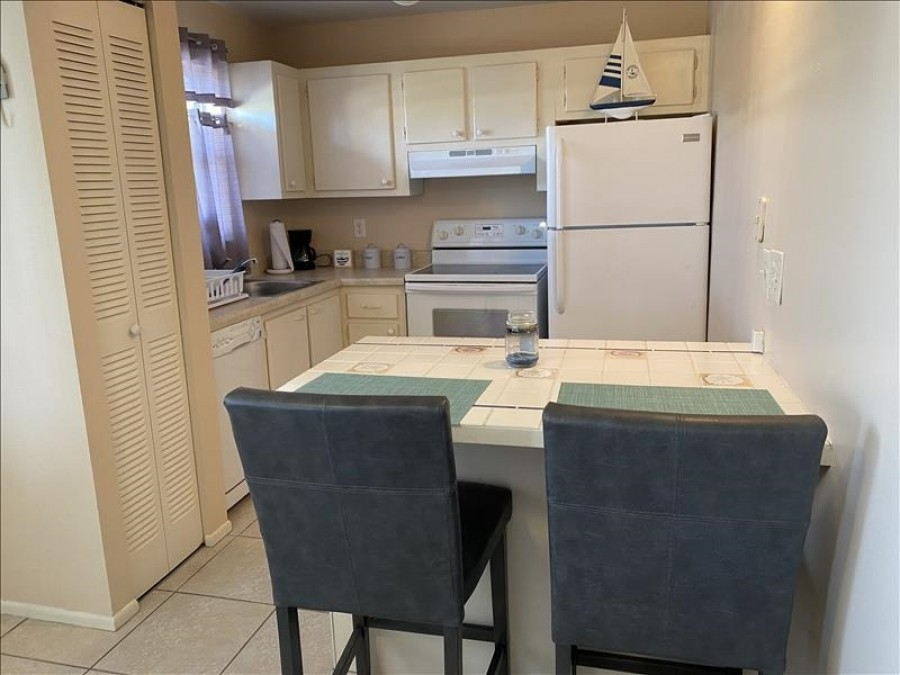 Kitchen with counter height stools