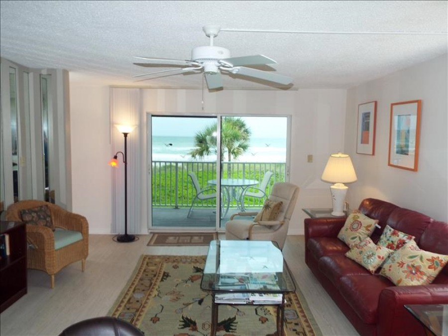 Living room and beach view